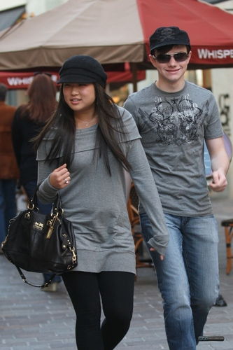 Chris and Jenna @ The Grove in Hollywood, CA.