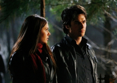 TV Couples پیپر وال called Damon & Elena