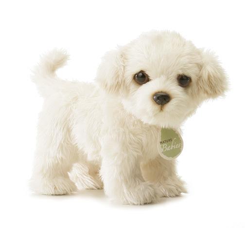 Stuffed Maltese Dog Toy