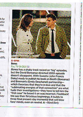 EW snippet on the 100th episode