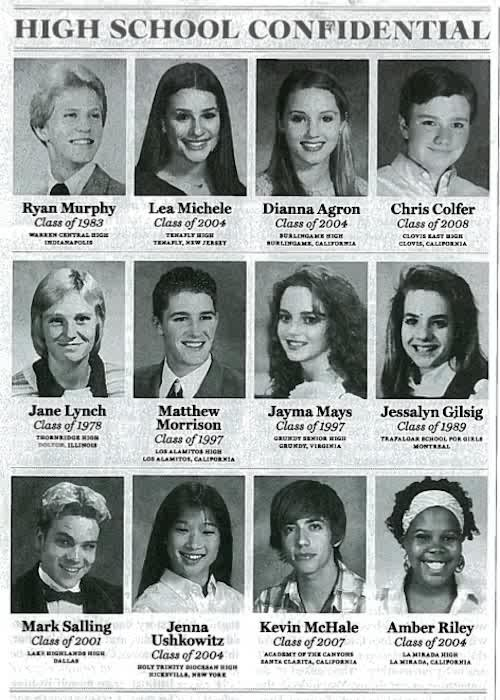 Glee Glee High School Yearbook!