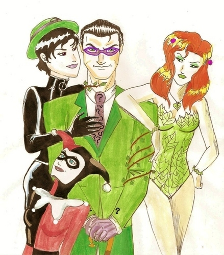 Gotham City Sirens and The Riddler