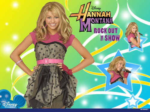 Hannah Montana new exclusive Rock out the show wallpapers!!!!!!