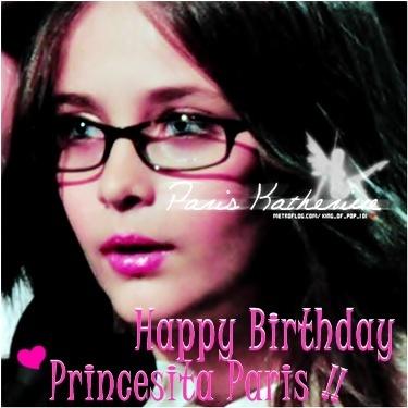 Happy Birthday Princesa Paris.