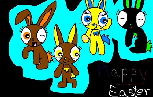 Powerpuff and rowdyruff animals wallpaper called Happy Easter! To all of you!
