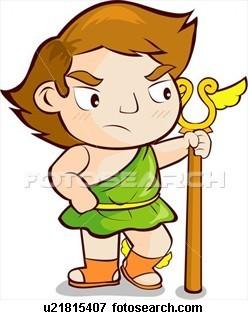 Griechische Mythologie Hintergrund titled Hermes