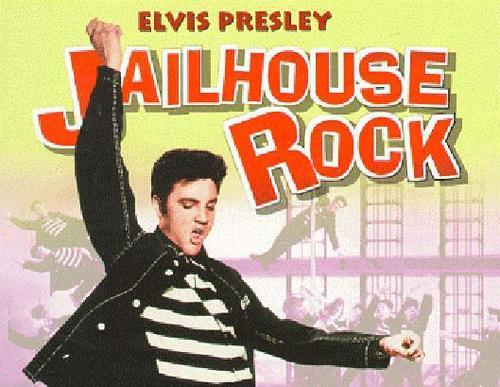 Elvis Presley Hintergrund entitled Jail House Rock Poster