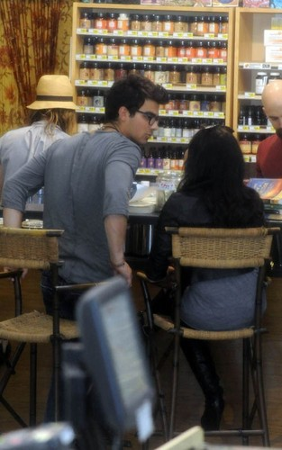 Joe Jonas and Demi Lovato at Erewhon Foods grocery store (April 3)