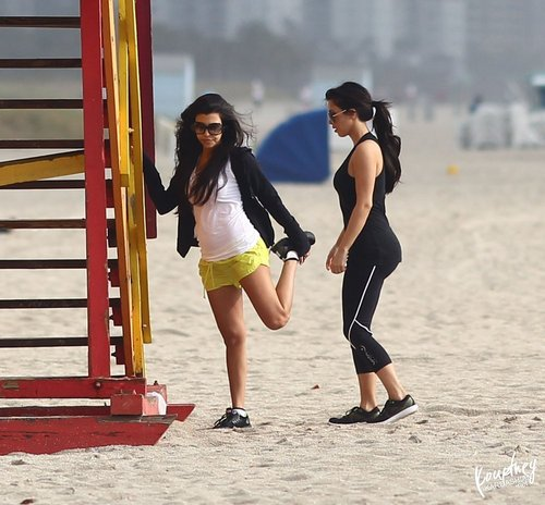 Kim & Kourtney