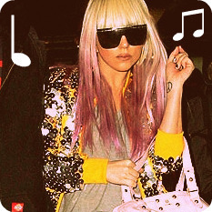 Polyvore wallpaper titled LADY GAGA