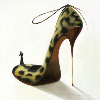 Women's Shoes wallpaper called Leopard Stiletto