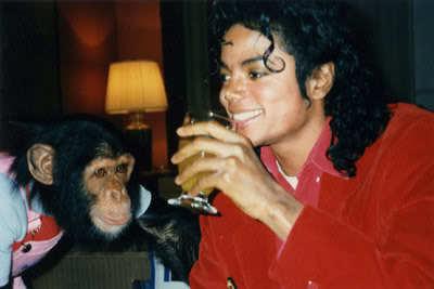 MJ & Bubbles <3