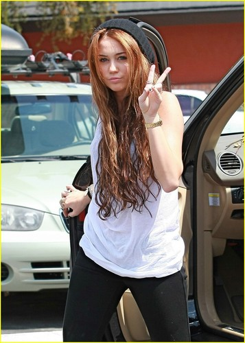 Miley out in Toulca Lake