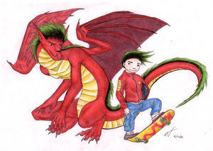 American Dragon: Jake Long achtergrond titled Monsterous American Dragon