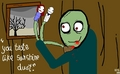 My Artwork on Paint - salad-fingers fan art