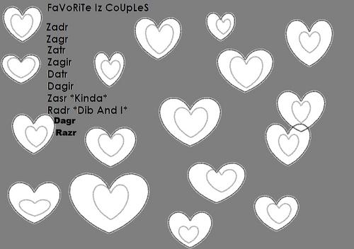 My kegemaran Invader Zim Couples