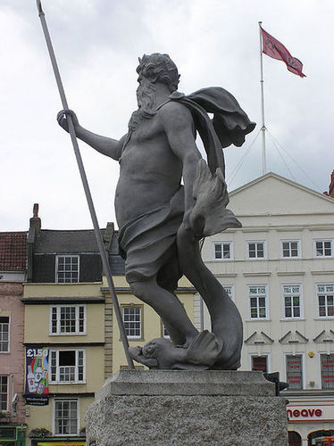 Neptune reigns in Bristol, England.