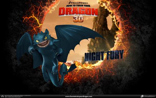 Night Fury fond d'écran