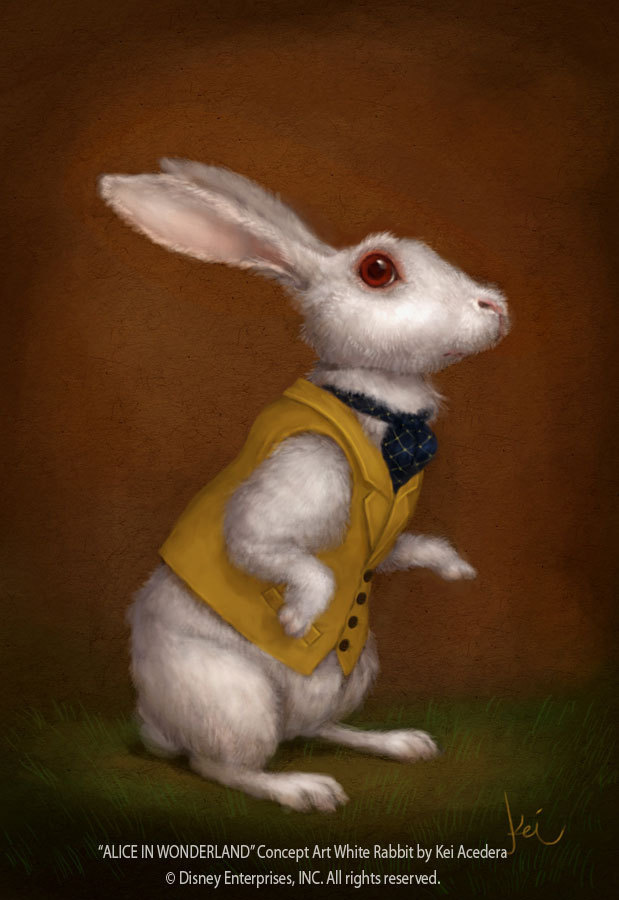 White rabbit painting - photo#25