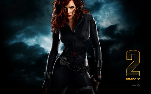 scarlett johansson wallpaper called Black Widow (Iron Man 2) Widescreen wallpaper