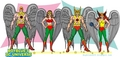 Pre-Crisis Hawkman & Hawkgirl from Earth-One and Earth-Two