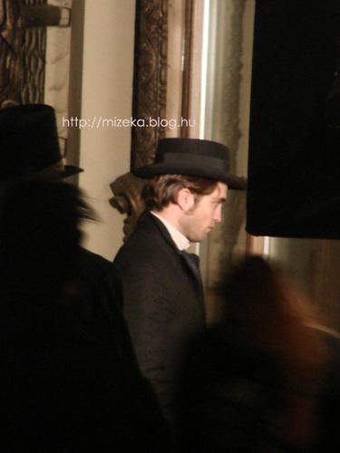 Rob on the Bel Ami set