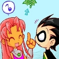 Robin and Starfire