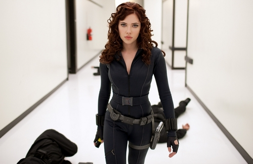 Scarlett Johansson | Iron Man 2 Production Still (HQ)