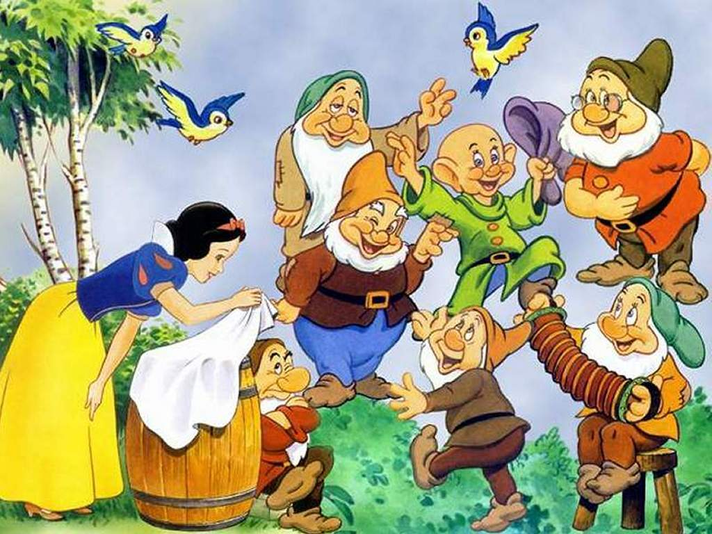 pictures of the 7 dwarfs from snow white