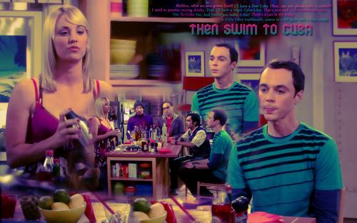 The Big Bang Theory wallpaper titled Swim to Cuba