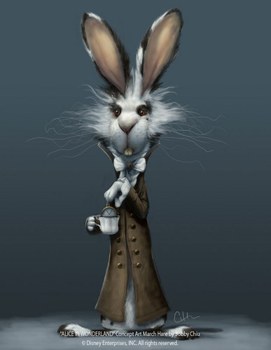 Alice im Wunderland (2010) Hintergrund titled Thackery Earwicket (March Hare) Concept Art