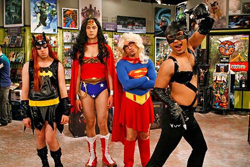 """The Big Bang Theory gang in """"superheroine drag"""""""