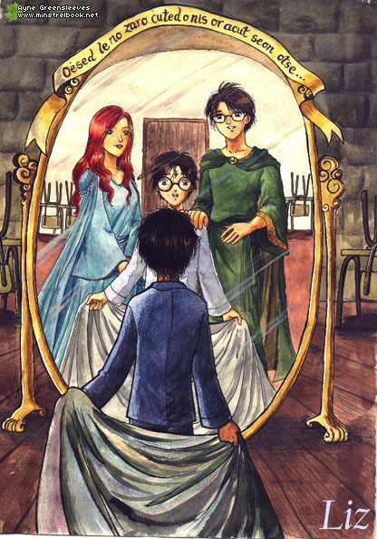 The mirror of erised harry potter fan art 11223081 for Miroir harry potter