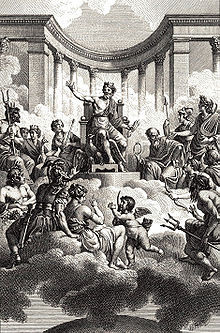 The Twelve Olympians द्वारा Monsiau, circa late 18th century.