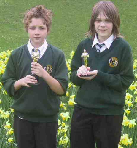 Two Jahr 9 pupils from Barry Comprehensive School