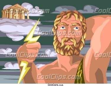 Griechische Mythologie Hintergrund called Zeus and Mount Olympus
