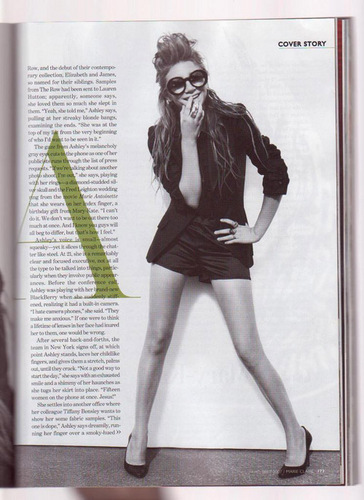Mary-Kate & Ashley Olsen wallpaper entitled ashley photoshoot marie claire