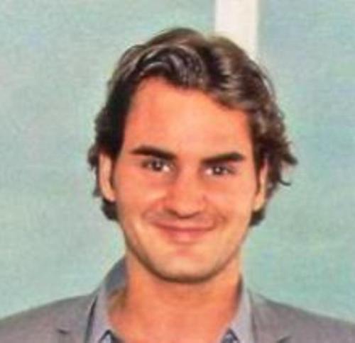 federer smile