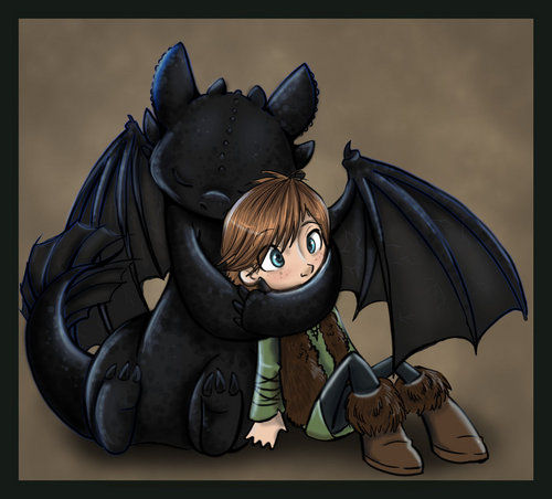 hiccup & toothless - how-to-train-your-dragon Fan Art