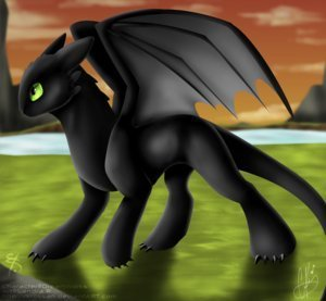 Toothless the Dragon wallpaper titled toothless