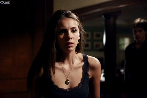 Elena Gilbert wallpaper titled 1x04 - Family Ties