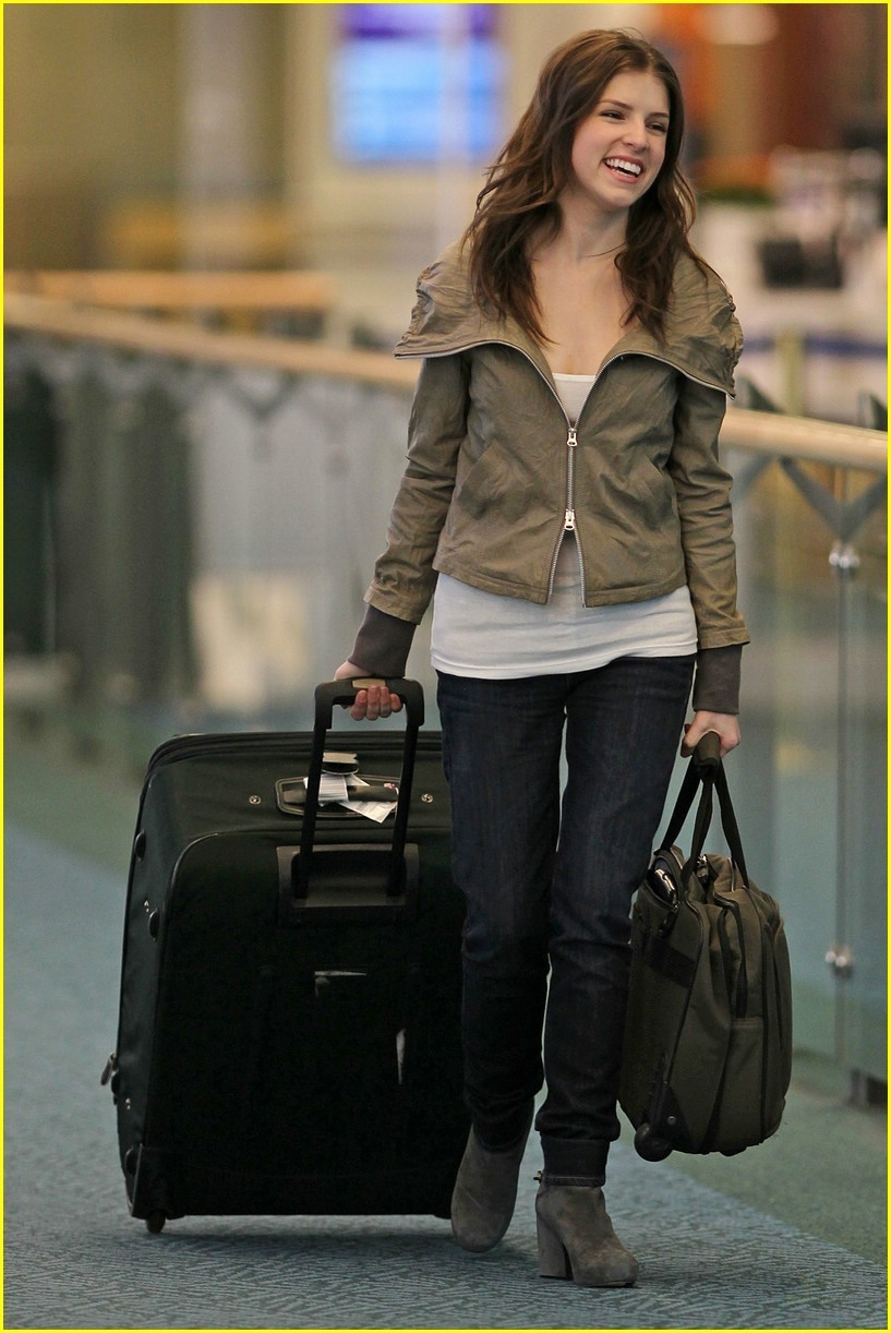 Anna Kendrick arriving at Vancouver