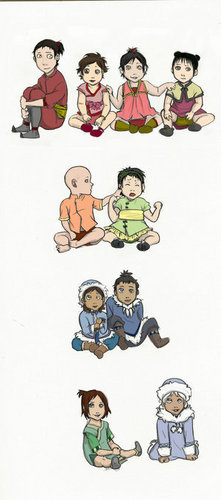 Avatar characters as babies