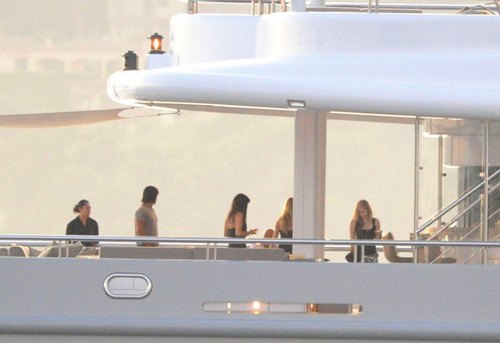 Avril on a yacht