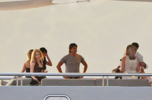 Avril on a yacht