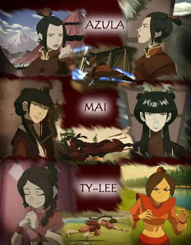 Avatar The Last Airbender karatasi la kupamba ukuta titled Azula Mai And Ty-Lee