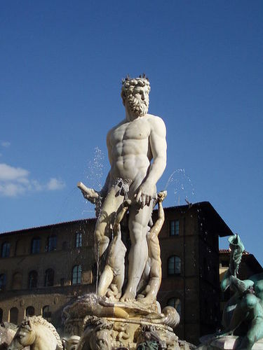 Greek Mythology wallpaper titled Bartolomeo Ammannati's Fountain of Neptune in Florence.
