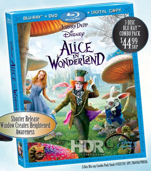 Blu Ray Disc Alice In Wonderland
