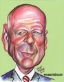 Bruce Willis Caricature Art - bruce-willis fan art