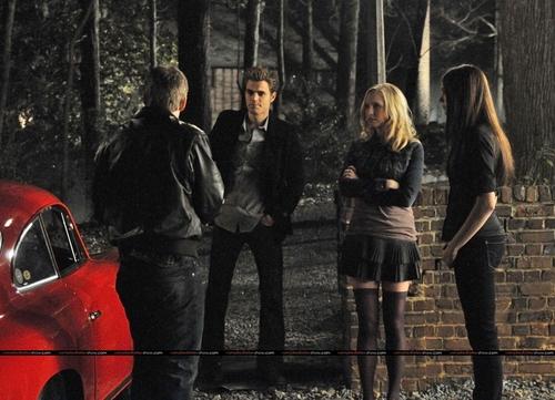 Caroline and Elena episode stills